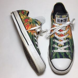 Converse All Star Tie Dye Low Tops Size 9